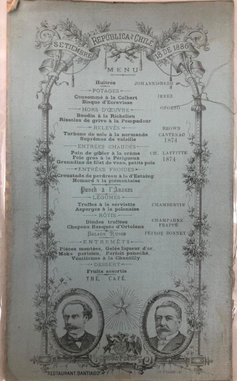 Menú 18 septiembre 1886